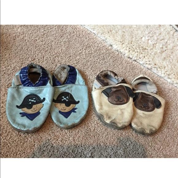 Robeez boys shoes moccasins bundle Lot 12-18 mos